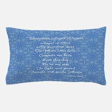 Guardian Angel Prayer Blue Pillow Case