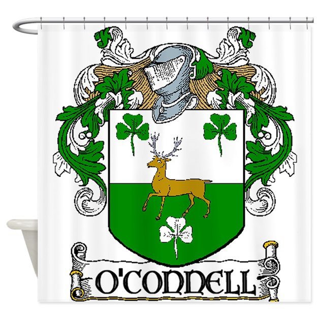 O Connell Coat Of Arms Shower Curtain By Irishcountry