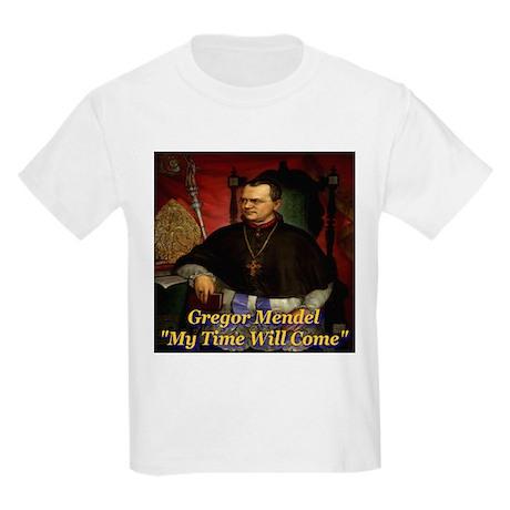Gregor Mendel My Time Will Co Kids Light T-Shirt