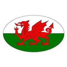 Welsh Dragon Oval Decal