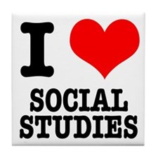 I Heart (Love) Social Studies Tile Coaster