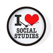 I Heart (Love) Social Studies Wall Clock