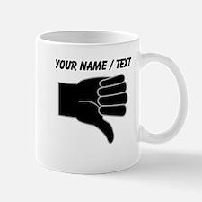 Custom Thumbs Down Mugs