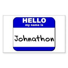 hello my name is johnathon Rectangle Decal