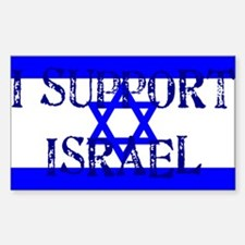 Support Israel Rectangle Decal