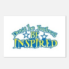 Dont be JEALOUS, be INSPIRED! Postcards (Package o
