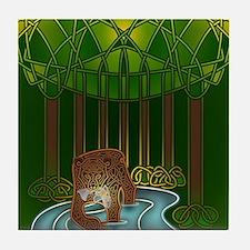 Bear of Wisdom Tile Coaster