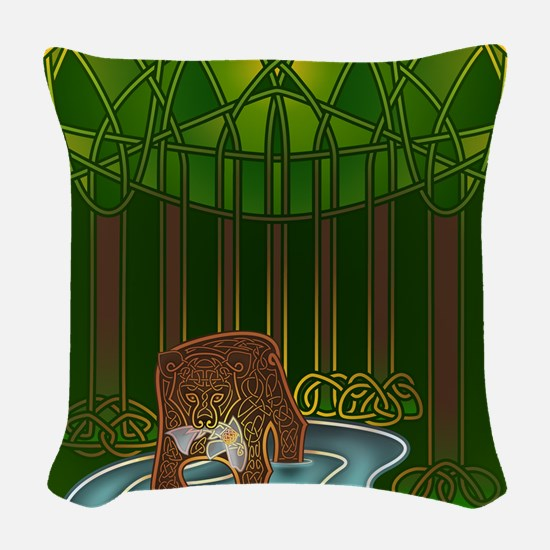 Bear of Wisdom Woven Throw Pillow
