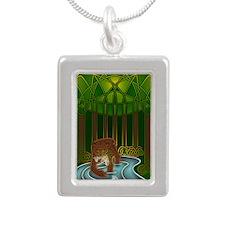 Bear of Wisdom Silver Portrait Necklace