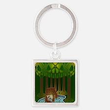 Bear of Wisdom Square Keychain