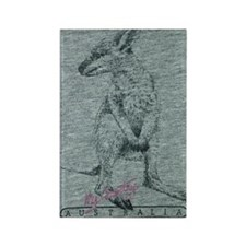 Wallaby Rectangle Magnet