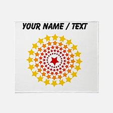 Custom Circle Of Stars Throw Blanket