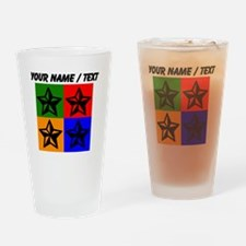 Custom Star Pop Art Drinking Glass