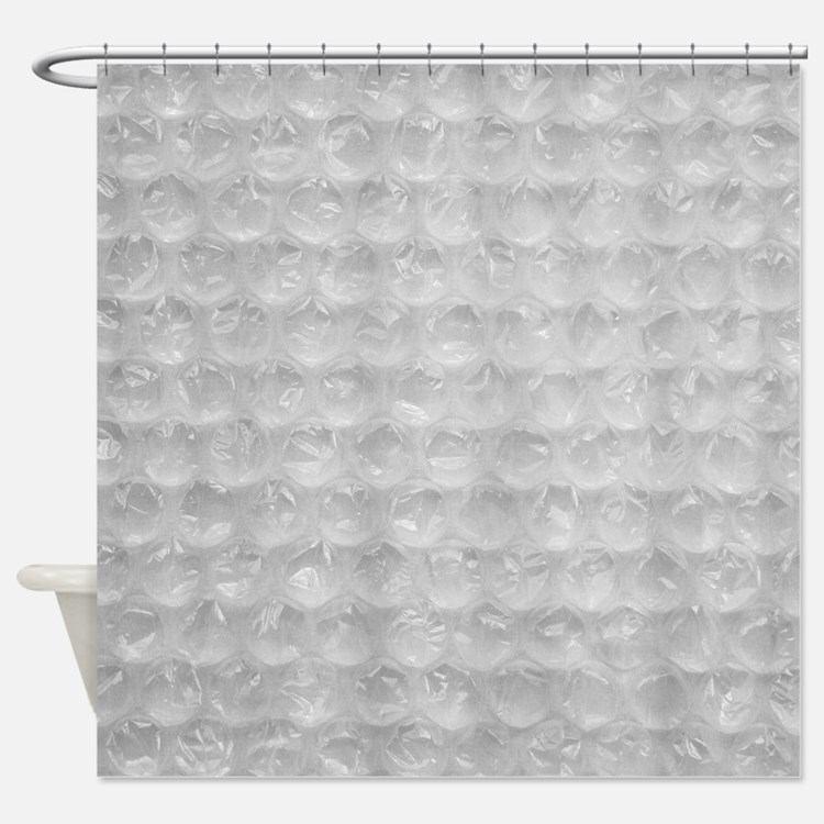 Bubble Wrap Shower Curtain