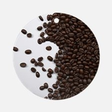 Spilled Coffee Beans Ornament (Round)