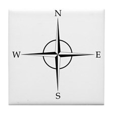 Compass Rose Tile Coaster