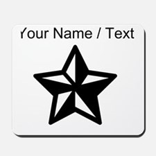 Custom Black Star Mousepad