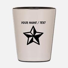 Custom Black Star Shot Glass