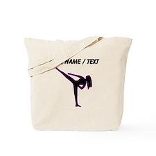 Custom Pink Karate Silhouette Tote Bag