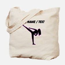 Custom Pink Karate Silhouette Tote Bag