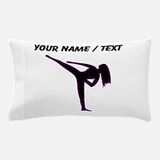 Custom Pink Karate Silhouette Pillow Case