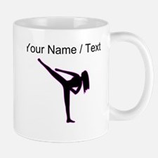 Custom Pink Karate Silhouette Mugs