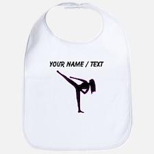 Custom Pink Karate Silhouette Bib