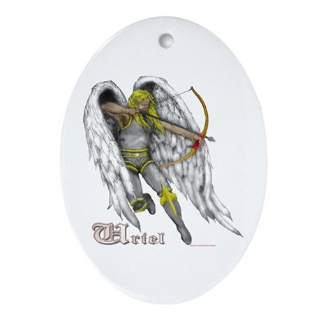Archangel Uriel Oval Ornament