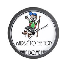 Made It To The Top Half Dome Hike Wall Clock