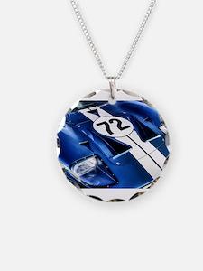 Blue Number 72 Necklace