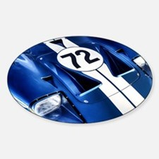 Blue Number 72 Decal