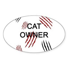 Cat Owner Claws 2 Decal