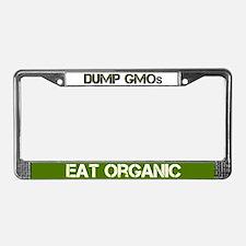 Dump Gmos - Eat Organic License Plate Frame