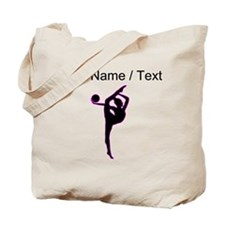 Custom Rhythmic Gymnastics Silhouette Tote Bag