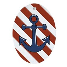 ANCHORS AWEIGH Ornament (Oval)
