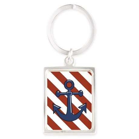 ANCHORS AWEIGH Portrait Keychain