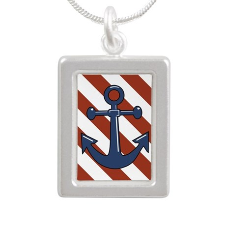 ANCHORS AWEIGH Silver Portrait Necklace