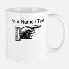 Custom Finger Pointing Right Mugs