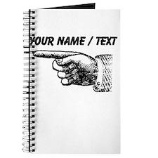 Custom Finger Pointing Left Journal