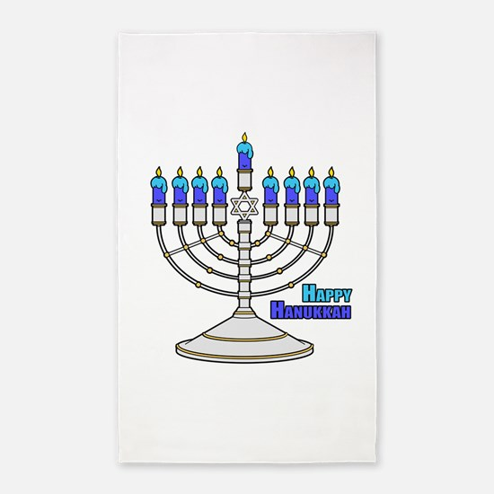 Happy Hanukkah 3'x5' Area Rug