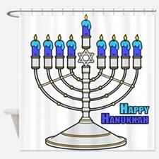 Happy Hanukkah Shower Curtain