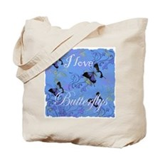 I Love Butterflys Tote Bag