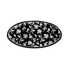 Vintage Style black and white floral pattern Patch