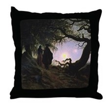 Contemplating the Moon Throw Pillow