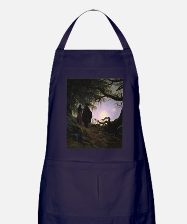 Contemplating the Moon Apron (dark)