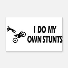 Unique I do all my own stunts Rectangle Car Magnet