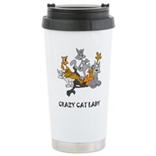 crazy-cat-lady.tif Travel Mug