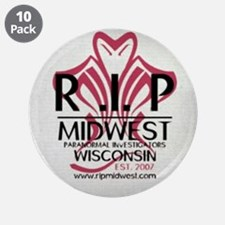 """RIP- Wisc. Weathered BL 3.5"""" Button (10 pack)"""