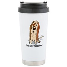 basset-hound-happy-... Travel Mug