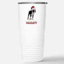 Naughty Boston Terrier Travel Mug